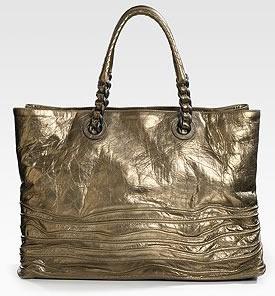 Bottega Veneta Metallic Leather Tote