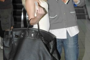 Heidi Montag with a Hermes <del>Birkin</del> HAC