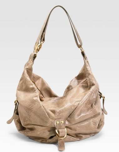 Helena De Natalio Sofi Snake Embossed Leather Hobo