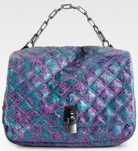 Marc Jacobs Iggy Python Shoulder Bag