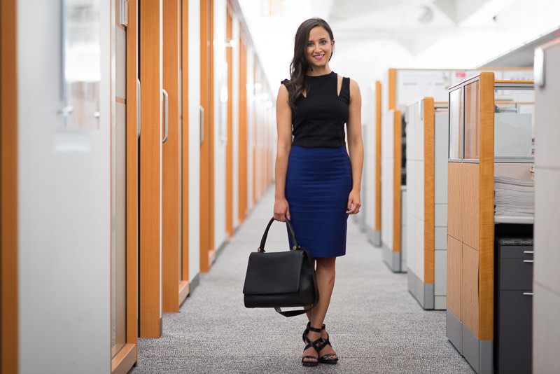 Max Mara J Bag $1,490 via Bloomingdales, Mason by Michelle Mason Top Similar via INTERMIX, Zara Skirt, BCBG Shoes Similar via Nordstrom