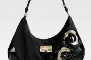 Versace Rose-Embellished Jacquard Hobo