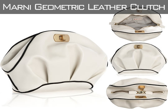 Marni Geometric Leather Clutch