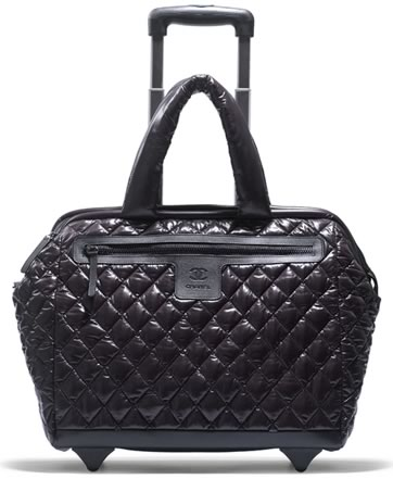 Chanel Black Quilted Trolley