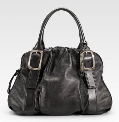 Cole Haan Ruched Leather Satchel