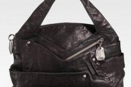 Donna Karan Crinkled Leather Satchel