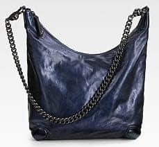 Gucci Galaxy Slouchy Metallic Leather Hobo
