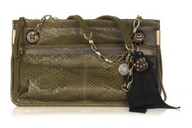 Lanvin Amalia Python Shoulder Bag