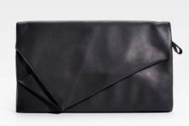 Maison Martin Margiela Ruched Leather Clutch