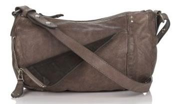 Olivia Harris Leather Zip Pocket Mini Crossbody Bag