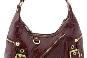 Rafe New York Zippered Glazed Leather Hobo