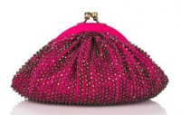Santi Beaded Disco Clutch