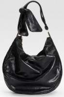Badgley Mischka Platinum Label Carina Leather Hobo