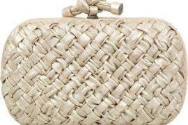 Bottega Veneta Boudoir Intrecciato Knot Clutch
