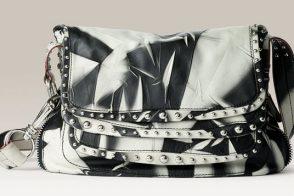 Donna Karan Chaos Leather Messenger Bag