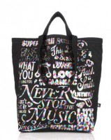 Harajuku Lovers Graphic Typography Yippie Canvas Tote