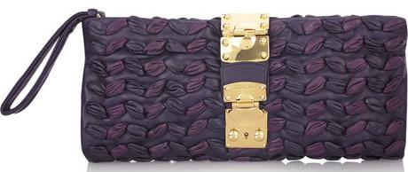 Miu Miu Plisse Leather Clutch