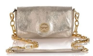 Tory Burch Distressed Metallic Leather Mini Bag