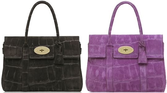 Mulberry Suede Bayswaters