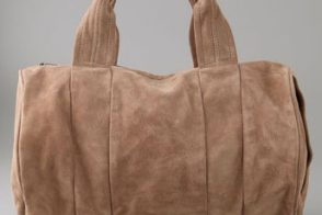 Alexander Wang Suede Coco Duffel Bag