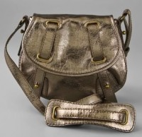 Maxwell Metallic Mini Messenger Bag