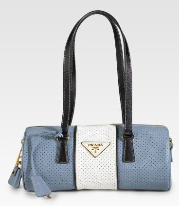 Prada Perforated Roll Bag