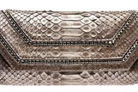 VBH Python Clutch with Crystal Detail