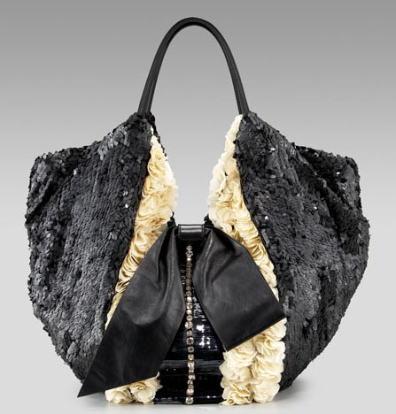 Valentino Shining Flower Tux 360 Tote