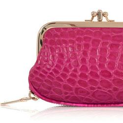 DKNY Crocodile-effect leather purse - $65