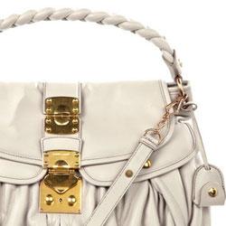Miu Miu Coffer Matelasse Leather Hobo - $1,520