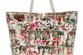 Carlos Falchi graffiti-print bags now available!