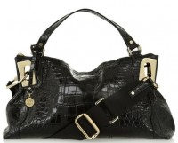 DKNY Stamped Leather Satchel