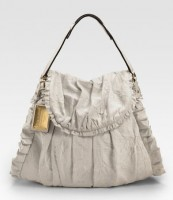 Dolce and Gabbana Miss Rouche Ruffled Shoulder Bag