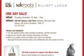 The Sak, sakroots & Elliott Lucca Winter Sample Sale