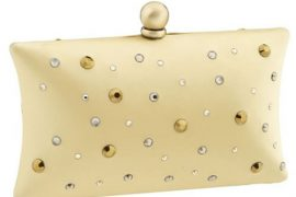Inge Christopher Crystallized Silk Charmeuse Clutch