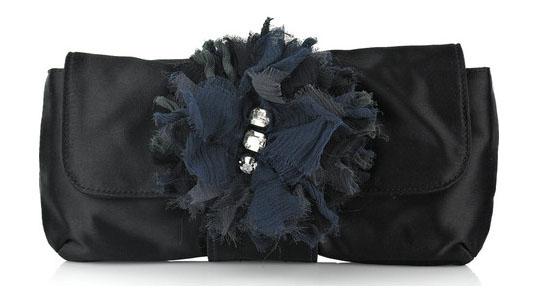 lanvin oulala satin clutch