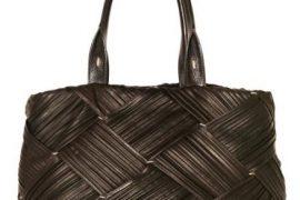 Agnona Pleated Leather Tote
