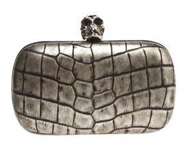 Alexander McQueen Croc Print Clutch