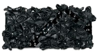 DSquared Leather Flower and Satin Clutch