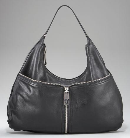 Fendi Leather Front-Zip Hobo