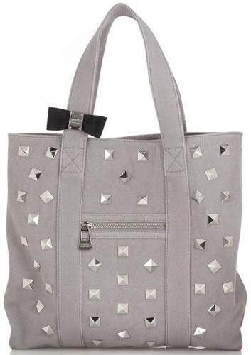 Sonia by Sonia Rykiel Studded Canvas Shoulder Bag - PurseBlog