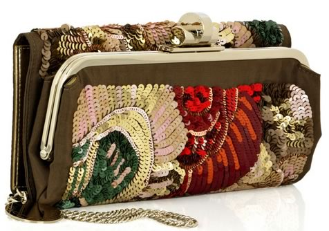 Stella McCartney Embroidered Sequin Clutch
