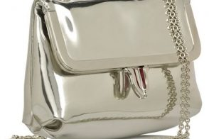 Christian Louboutin Mia Mirrored-Leather Shoulder Bag