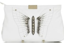 Jimmy Choo Zulu Butterfly Leather Clutch