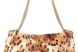 Christian Louboutin Painted Python Shoulder Bag