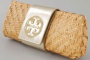 Tory Burch Rattan Clutch