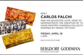 Carlos Falchi Personal Appearance at Bergdorf Goodman