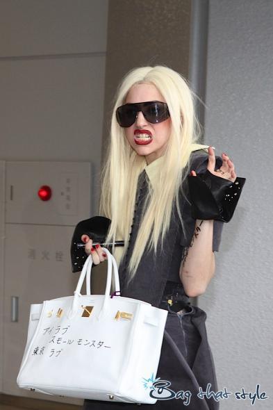 hermes birkin 30 price - Lady Gaga sends a Birkin message to her Japanese fans - PurseBlog