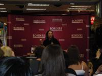 Kelly Cutrone speaking at an event in Atlanta, GA.