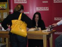 Kelly Cutrone signs her book at an event in Atlanta, GA.
